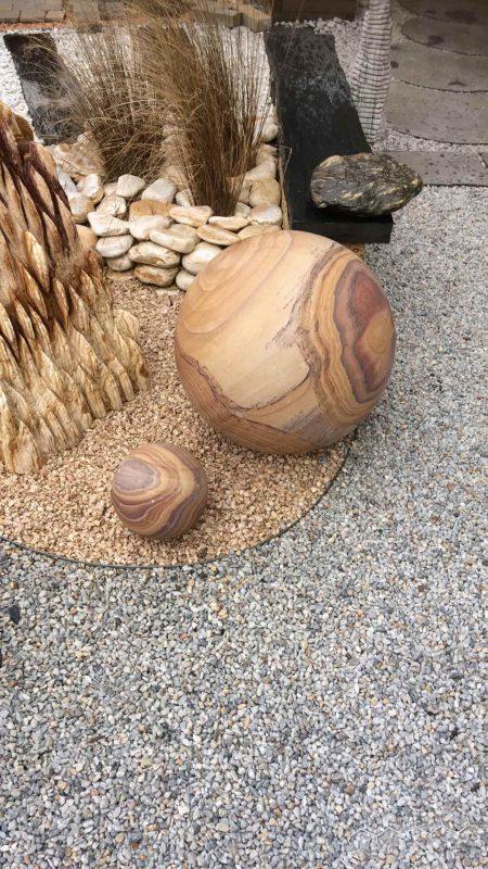 boules de granite décoratives