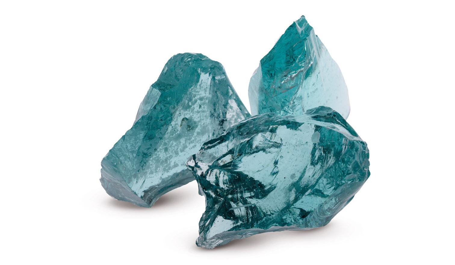 verre concassé turquoise pour arborer votre jardin